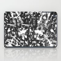 music notes iPad Cases featuring MUSIC NOTES  by raspaintings