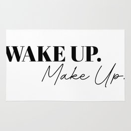 wake up make up Rug