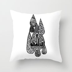 Tears for Seattle Throw Pillow