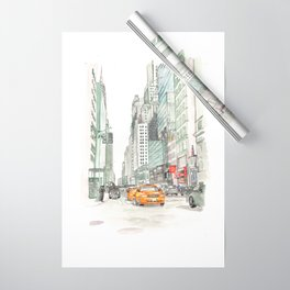New York City Taxi Wrapping Paper