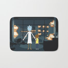 Morty and Rick Club Fight Bath Mat