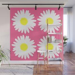 Pink Daisy Bouquet Wall Mural