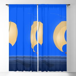 May's Speech To Despair and Treachery - shoes story Blackout Curtain