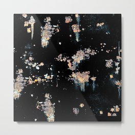 OXIDE ON BLACK BACKGROUND Metal Print