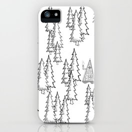 Lost in the wood, a lonely cabin iPhone Case