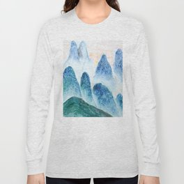 dawn in the mountain forest Long Sleeve T-shirt