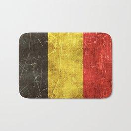 Vintage Aged and Scratched Belgian Flag Bath Mat