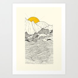 The land and the sea Art Print