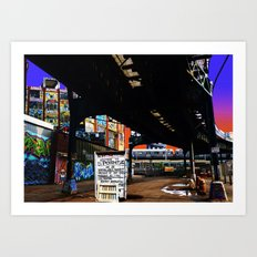Under the F-Line - New York Art Print