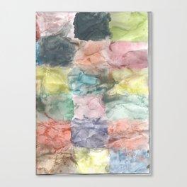 Geometric watercolor Canvas Print