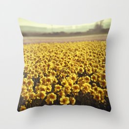 Narcissus field #2 Throw Pillow