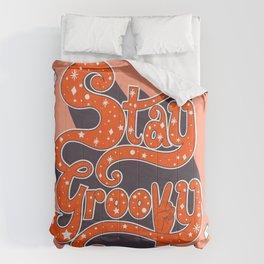 Stay Groovy Comforters