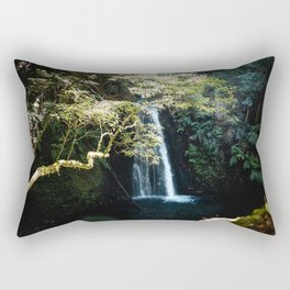On route to the waterfall III | A journey over Sao Miguel, the Azores Rectangular Pillow