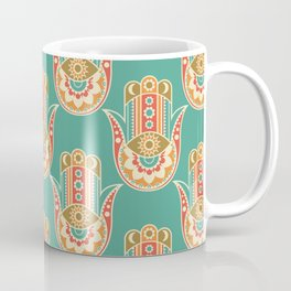 Colorful Hamsa Hand Coffee Mug