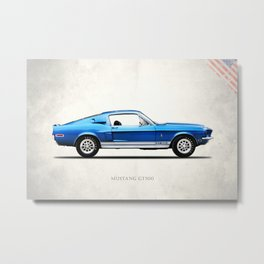 The Shelby Mustang GT500 Metal Print