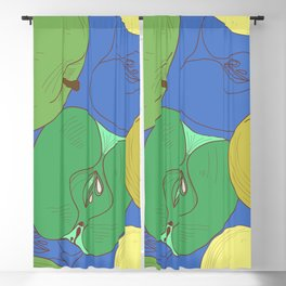 Seamless pattern with apples. Fruit Blackout Curtain