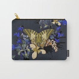 Vintage Black Jungle Butterfly Carry-All Pouch