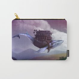 Floating whale Carry-All Pouch
