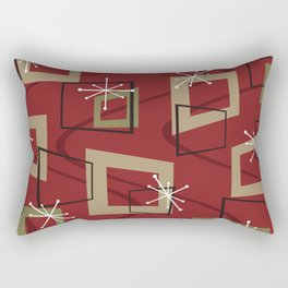 Mid Century Modern Maroon Rectangular Pillow