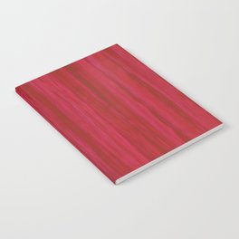 Strawberry Colored Vertical Stripes Notebook