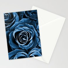 Rose Bouquet in Blue Stationery Cards
