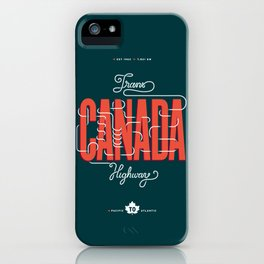 Trans-Canada Highway iPhone Case