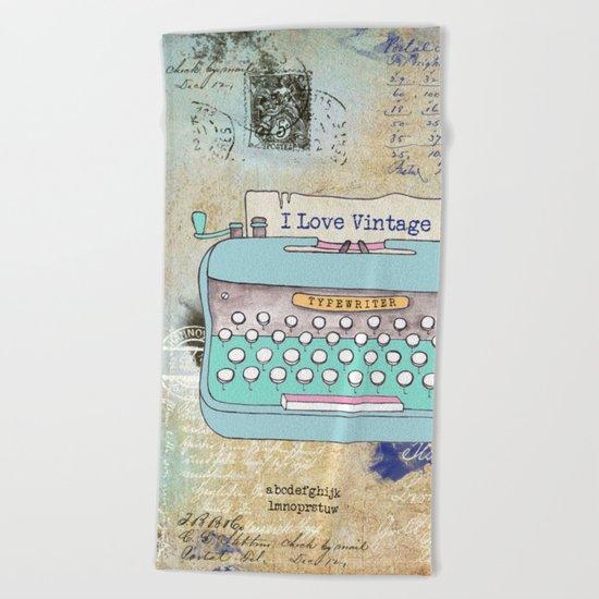 Typewriter #3 Beach Towel