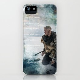 Let The Silence Speak iPhone Case