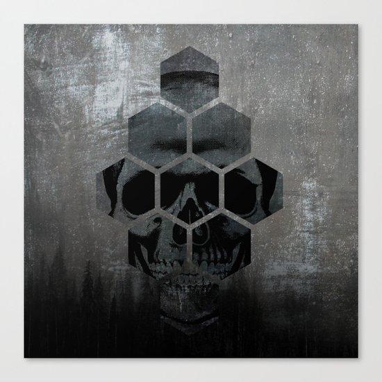 Skull texture Canvas Print