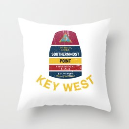Southernmost Point - Key West Florida Keys Souvenir for Island Lovers Throw Pillow