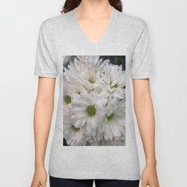 White Daisies Unisex V-Neck