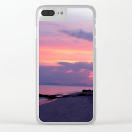 Island sunset Clear iPhone Case