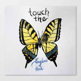 touch the kingdom tiger swallowtail butterfly Canvas Print