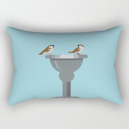 Sparrows catching up vector illustration Rectangular Pillow