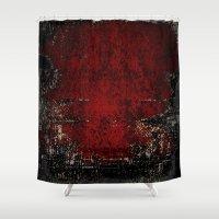 glitch Shower Curtains featuring Glitch by Z. Crawshayi