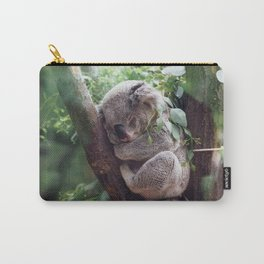 Amazingly Gorgeous Little Koala Bear Resting On Tree Branch Ultra High Resolution Carry-All Pouch