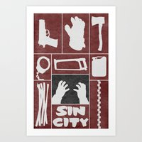 sin city Art Prints featuring Sin City by Travis English