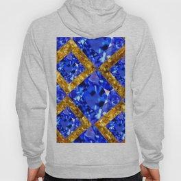 ASYMMETRIC ROYAL BLUE SAPPHIRE GEMSTONES ART ON GOLD Hoody