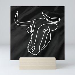 bull - natural square Mini Art Print