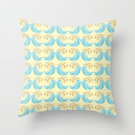 Trippy Wave Pattern Throw Pillow