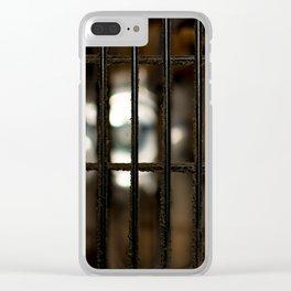 Dusty fan guard Clear iPhone Case