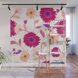 Colorful gerbera floral pattern Wall Mural