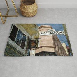 Jack Kerouac Alley and Vesuvio Pub Rug