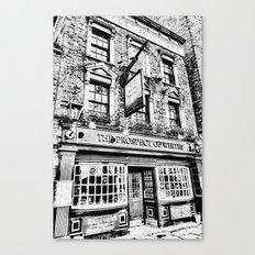 Prospect of  Whitby Pub London 1520 art Canvas Print