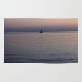 Tropical sea sunset Rug