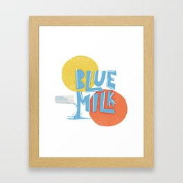 Blue Milk Framed Art Print