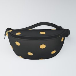 Gold Glitter Large Dot Pattern Fanny Pack