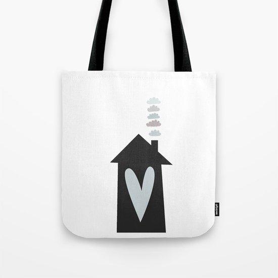 Home, Love, Illustration, Heart,  Tote Bag