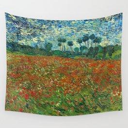 Vincent Van Gogh Poppy Field Wall Tapestry