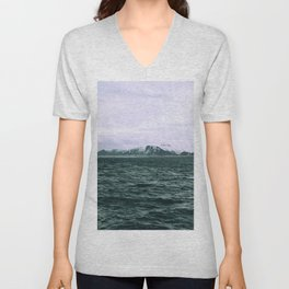 SEA - SNOW - OCEAN - ICE - COLD - COOL - PHOTOGRAPHY Unisex V-Neck